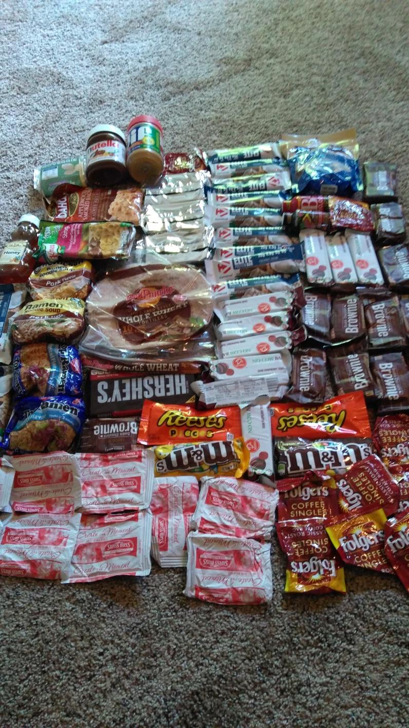 resupply-the food of a hiker biker