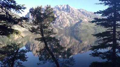 mirror lake in the morn-jenny lake, tetons