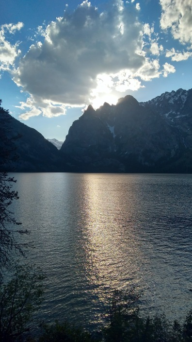 view from campsite at jenny lake