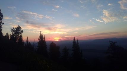sun rise on way up