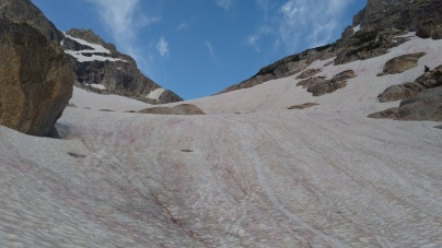 snow slope up south fork to saddle