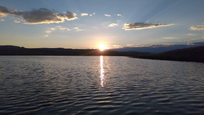 sunrise on reservoir