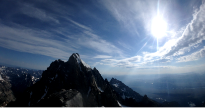 looking at Grand Teton from the summit of Middle Teton