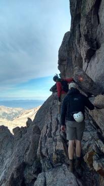 the narrow traverse on longs peak