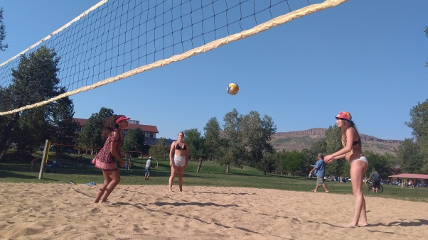 volley ball chill out day