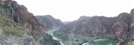about 1500feet of canyon in view