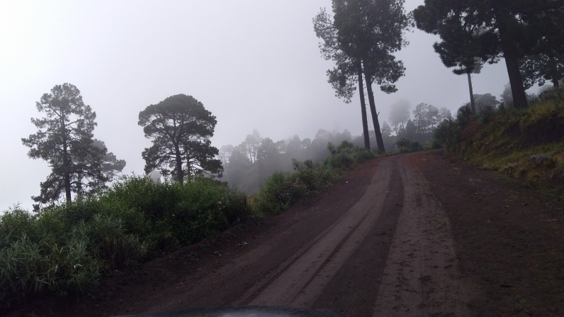 the road up in the clouds