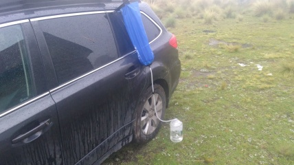 water filtration on the road