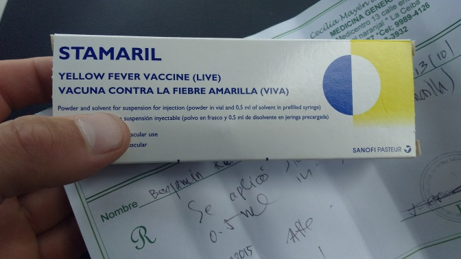 Getting A Yellow fever Vaccination On The Road In Central America