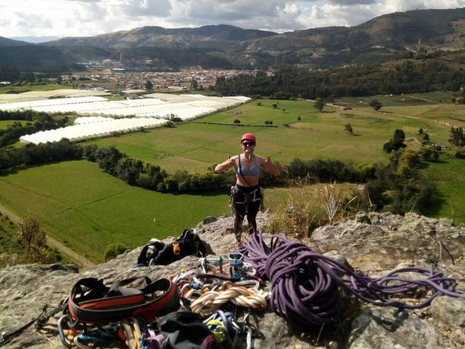 Trad Climbing in Suesca, Colombia