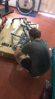 me re-fixing the derailleur