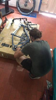 me re-fixing the derailleur