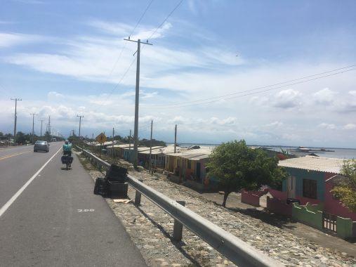 coastal living on the main 90 route to Santa Marta