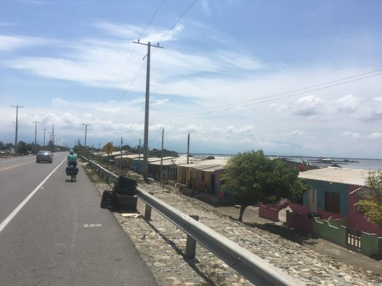 coastal living on the main 90 route to Santa Marta