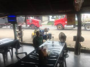 truck stop for breakfast one morning