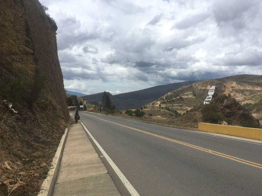 cycling up and over from Villa de Leyva