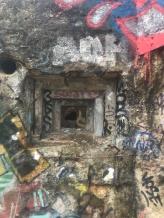 a machine gun hole covering the entrance