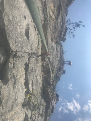 sport climbing today a few miles further on